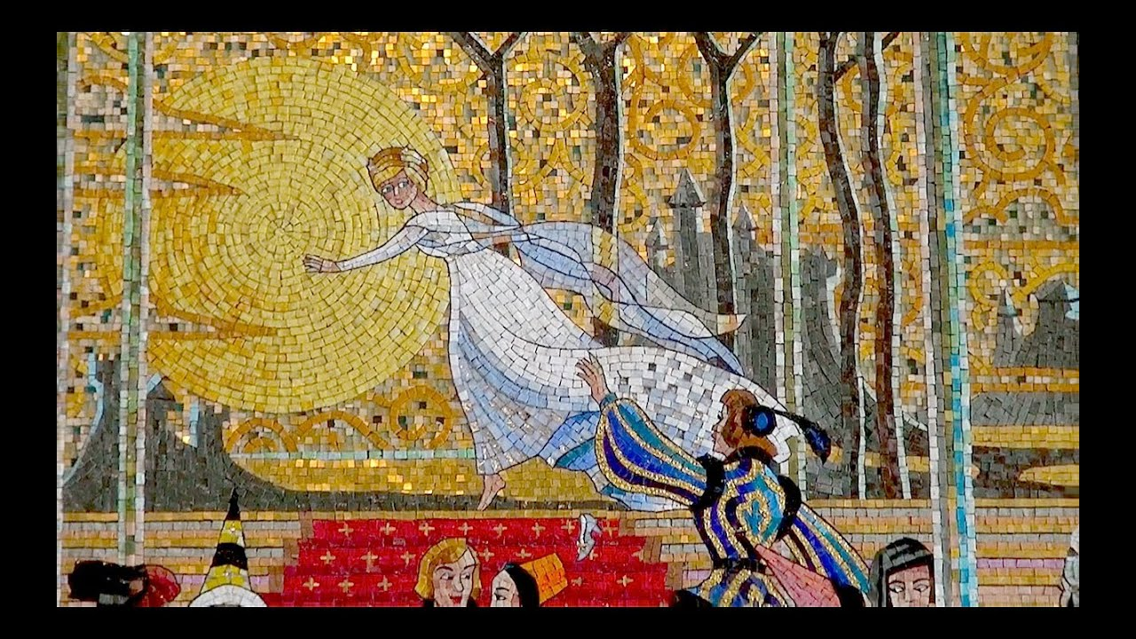 Mosaic Art] A story of cinderella (Tokyo Disneyland) - YouTube