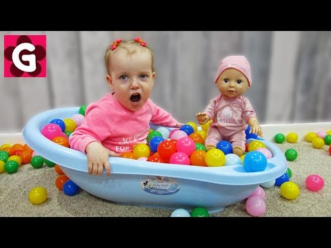 Thumbnail: Learn Colors with Baby and Balls / by Toys and Little Gaby