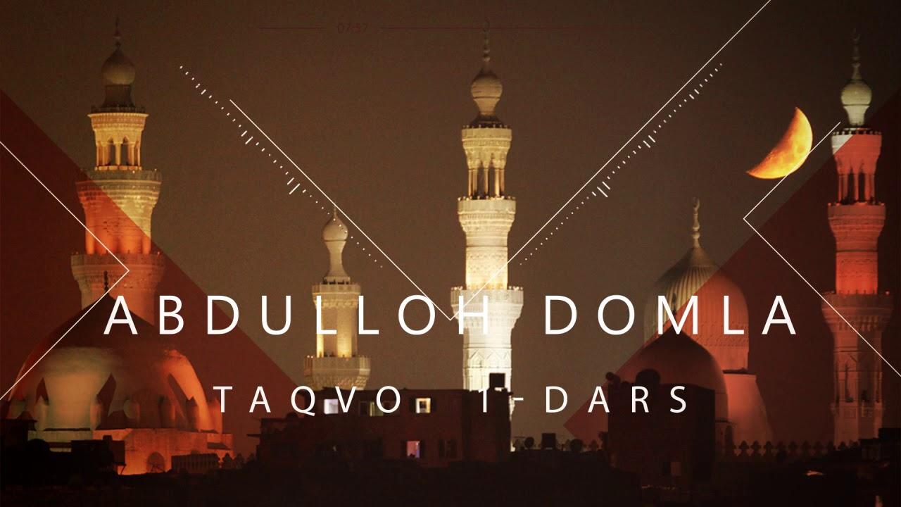 Download Abdulloh domla. Taqvo 1-dars
