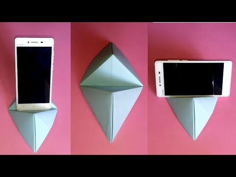How To Make Paper Mobile Stand    DIY Origami Phone Holder