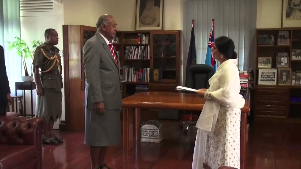 Fijian President receives credentials from High Commissioner of Pakistan to  Fiji