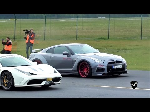 Supercar Drag Races! 458 Speciale Vs GT-R, Huracan Vs Turbo S & Many More!!