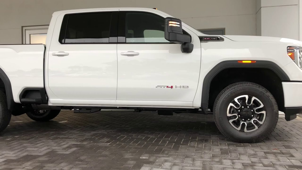 Taking delivery of a 2020 GMC SIERRA 2500HD AT4 6.6L GAS ...