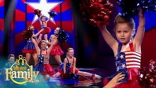 Cheerleaden met de 5-jarige Margaret en haar nichtjes | We Are Family 2015 | SBS6