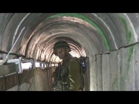 """A look inside """"lower Gaza"""" tunnels"""