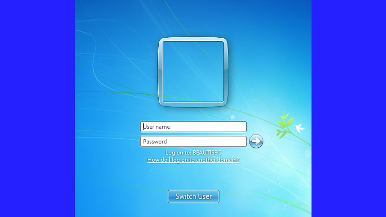 How to Make Users Using Windows 7 Enter a Username and Password