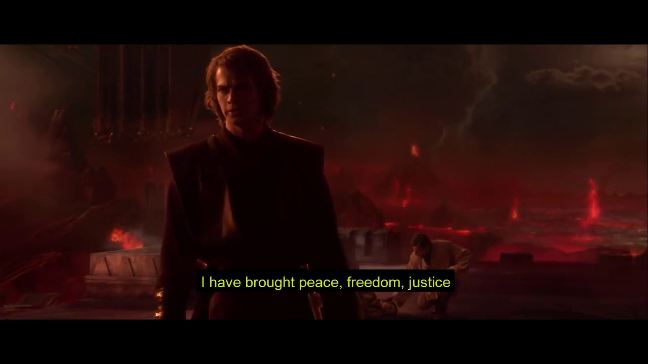 Anakin Brings Peace Justice And His Axe To His New Empire Youtube