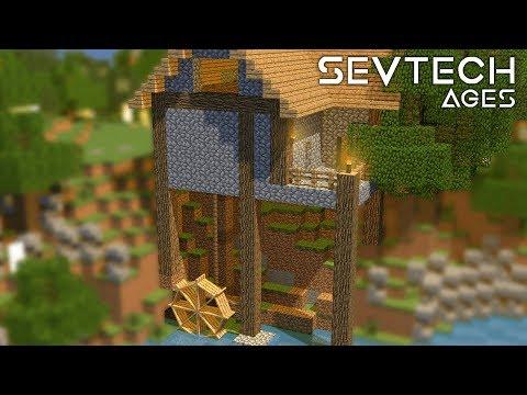 Wasserrad Haus! & Eimer Fertig! - #17 SevTech Ages (Stage One) - German