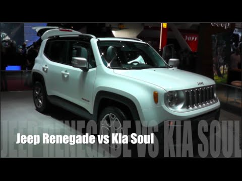 jeep renegade 2014 vs kia soul 2014 youtube. Black Bedroom Furniture Sets. Home Design Ideas