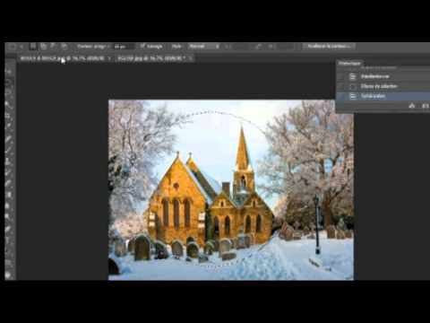 photoshop cs6 creer une boule neige kitch youtube. Black Bedroom Furniture Sets. Home Design Ideas