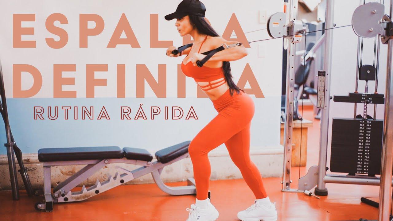 DEFINE TU ESPALDA Y AUMENTA PECHO ▻ Rutina rápida - YouTube
