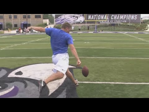 55-Yard Drop Kick Field Goal | Pat McAfee | Kohl