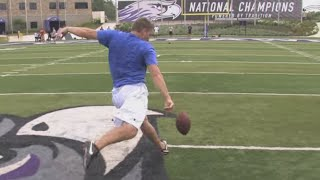 55-Yard Drop Kick Field Goal   Pat McAfee   Kohl's Kicking Camps