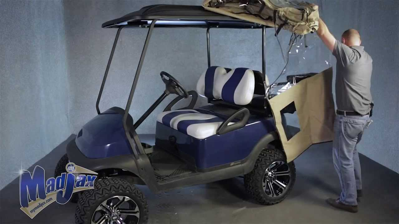 Madjax® Golf Cart Enclosure | How to Install Video | Madjax® Golf on clear plastic golf cart covers, club car golf cart rain covers, rail golf cart covers, eevelle golf cart covers, vinyl golf cart covers, door works golf cart covers, star golf cart covers, portable golf cart covers, national golf cart covers, buggies unlimited golf cart covers, sam's club golf cart covers, harley golf cart seat covers, yamaha golf cart covers, canvas golf cart covers, classic golf cart covers, discount golf cart covers, custom golf cart covers, golf cart cloth seat covers, golf cart canopy covers, 3 sided golf cart covers,