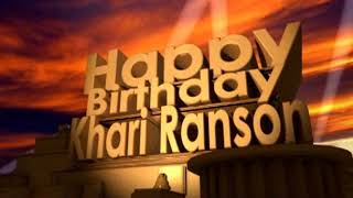 Download Video Happy Birthday Khari Ranson MP3 3GP MP4