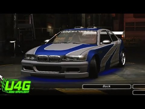 Need For Speed Underground 2 BMW M3 (NFS Most Wanted) Mod tuning by United4Games