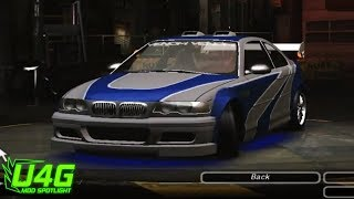 Need For Speed Underground 2 BMW M3 (NFS Most Wanted) tuning by United4Games