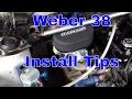 AE86 Weber 38 DGES Install Tips