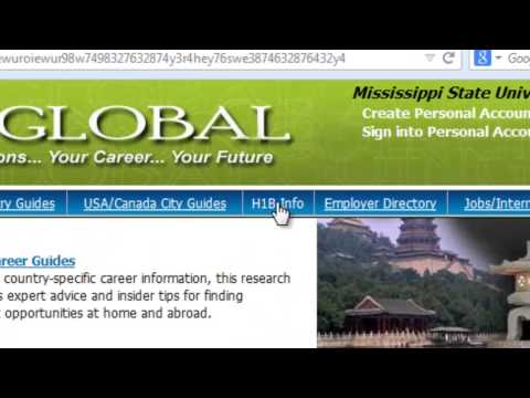 Using GoingGlobal to Find Sponsoring Companies