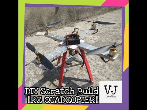 How to make Rc Quadcopter || DIY Scratch Build Brushless 450 ||