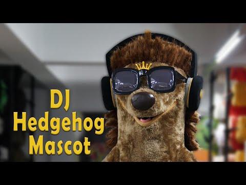 Hedgehog Mascot Costume With Sunglasses