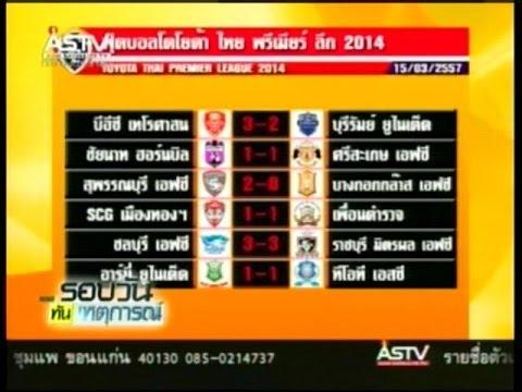 2014/03/16 สรุปผลฟุตบอลไทยพรีเมียร์ลีก