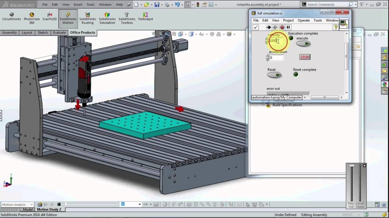 Real Time Simulation With Solidworks and Labview