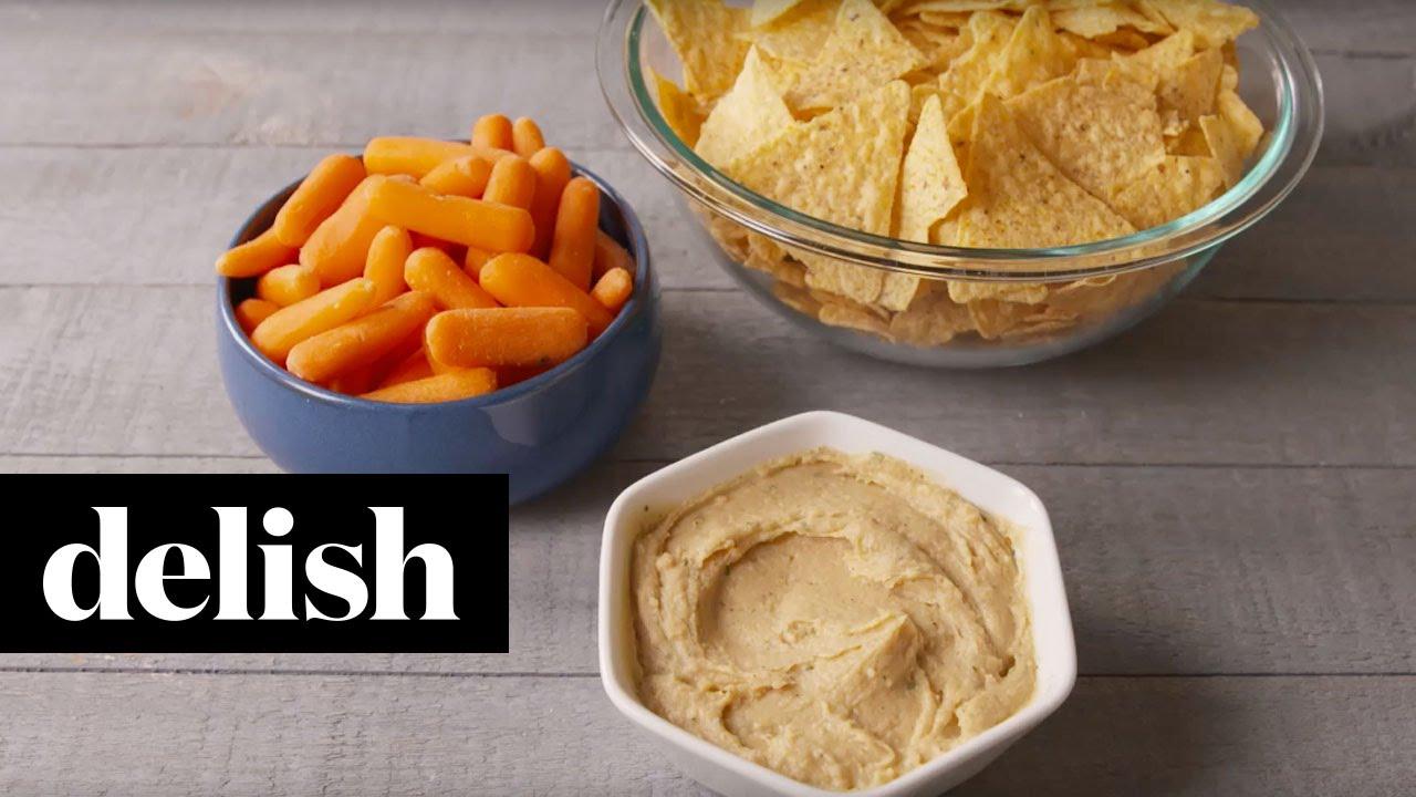 How To Make Homemade Ranch Hummus  Delish