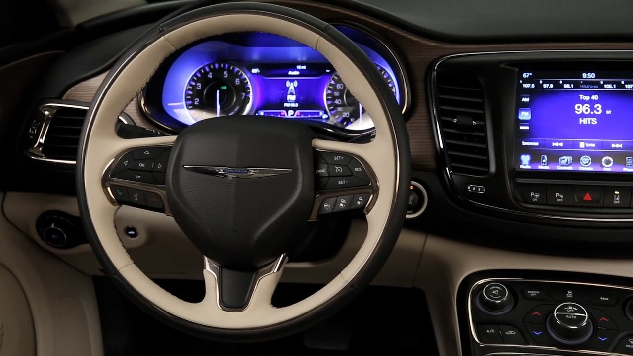 Chrysler 200 Mpg >> 2015 Chrysler 200C - INTERIOR - YouTube