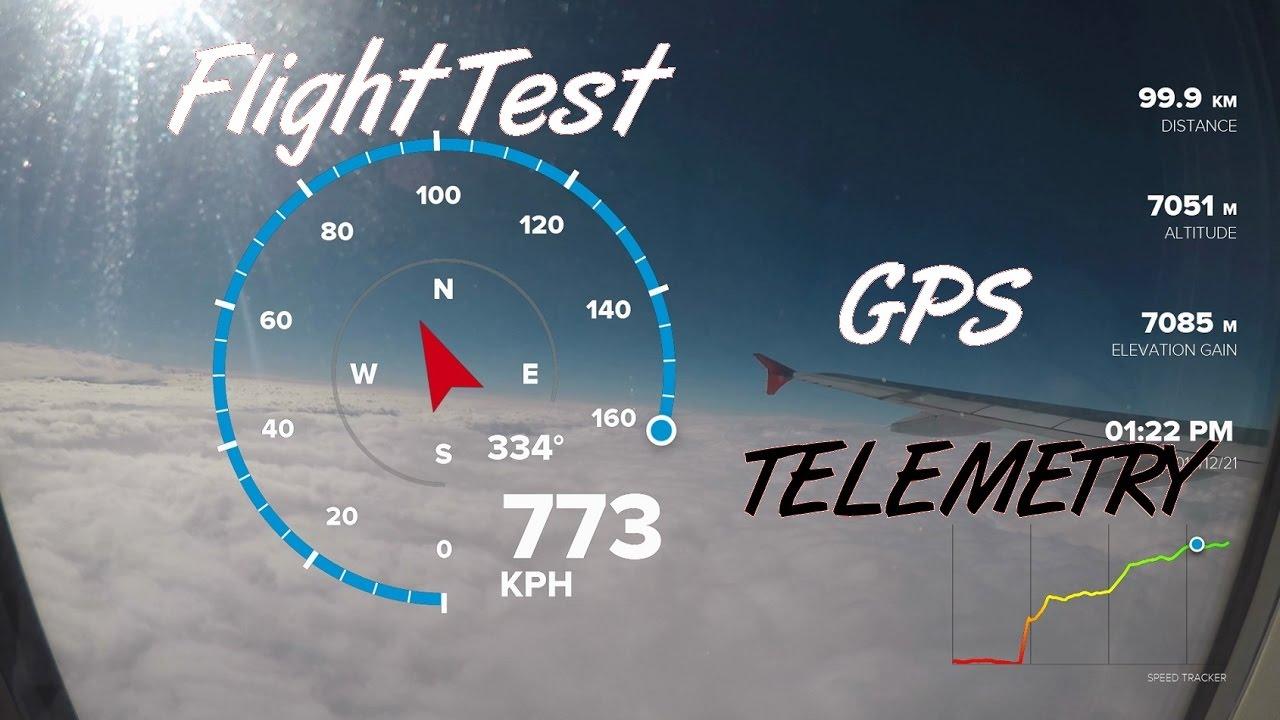 GoPro Hero 5 Black - GPS Telemetry High Speed Test (Airbus A320 Take ...
