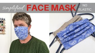 Simplified FACE MASK / No Elastic / Filter Pocket / Upcycled T-Shirt Ties