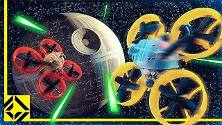 Recreating the Death Star Trench Run with Drones!