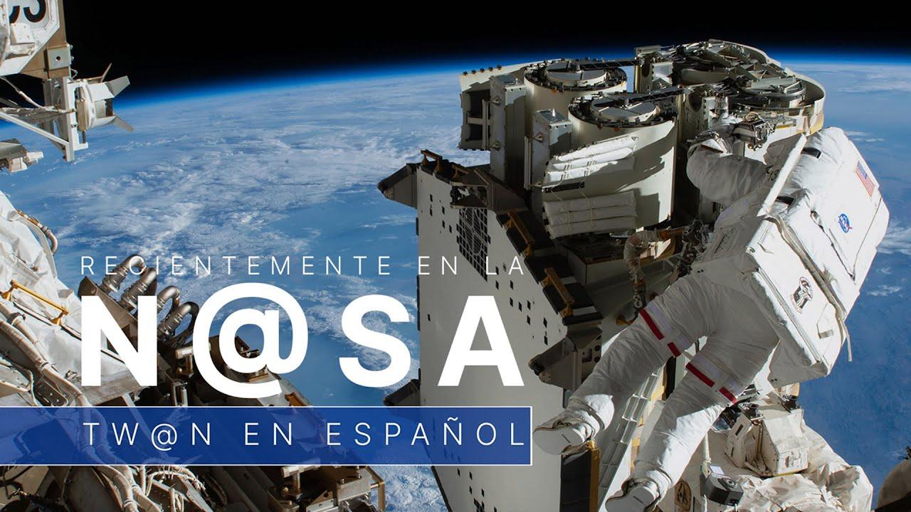 Instalando nuevos paneles solares en la estación espacial - TW@N - 18 de junio de 2021