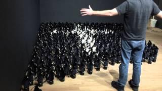 ふわふわかわいい。白黒のペンギンちゃんたちがおりなすアート作品