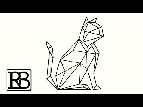 Fabriquer Un Chat Géométrique En Metal - DIY // ⓇⒷ