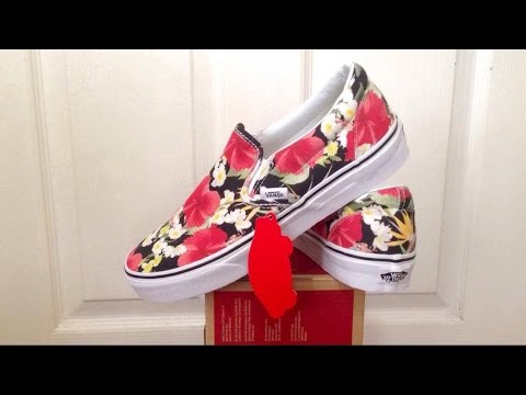 1ffdb664ed VANS FLORAL SLIP-ON UNBOXING   REVIEW (+ON-FEET!) - YouTube