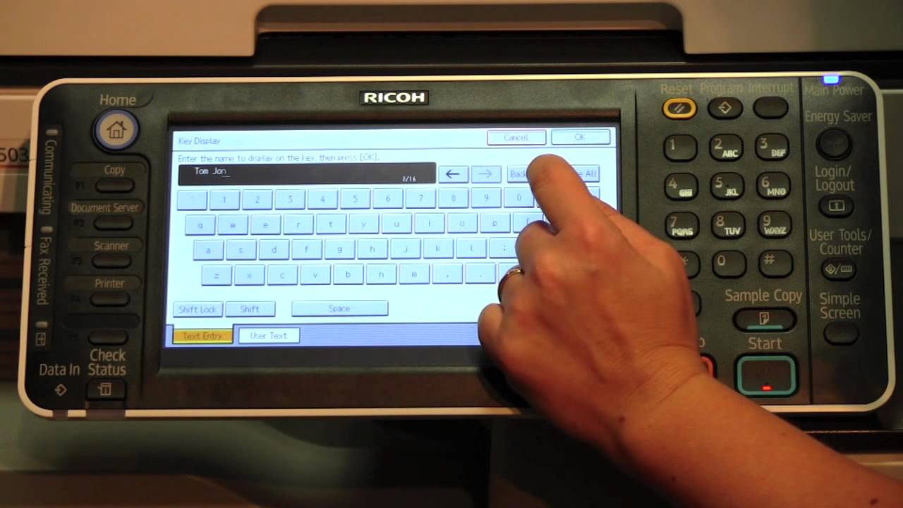 How to Add, Edit or Delete Contacts in your Ricoh Multifunction Device
