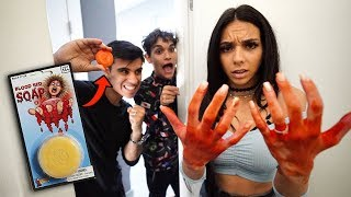 FUNNY BLOODY SOAP PRANK!