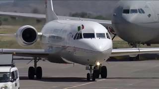 Uhuru's Plane Touches Down In Italy. Gets Carried By Military Plane.Welcomed with Great Respect.