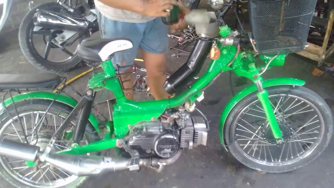 Kereen Motor Modif Sepedah Pancal Youtube
