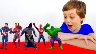 Superheroes Dance with Niki and Polina 색칠공부를 하면 슈퍼히어로랑 신나게 춤을 춘다고? 헐크 스파이더맨 캡틴 아메리카 배트맨