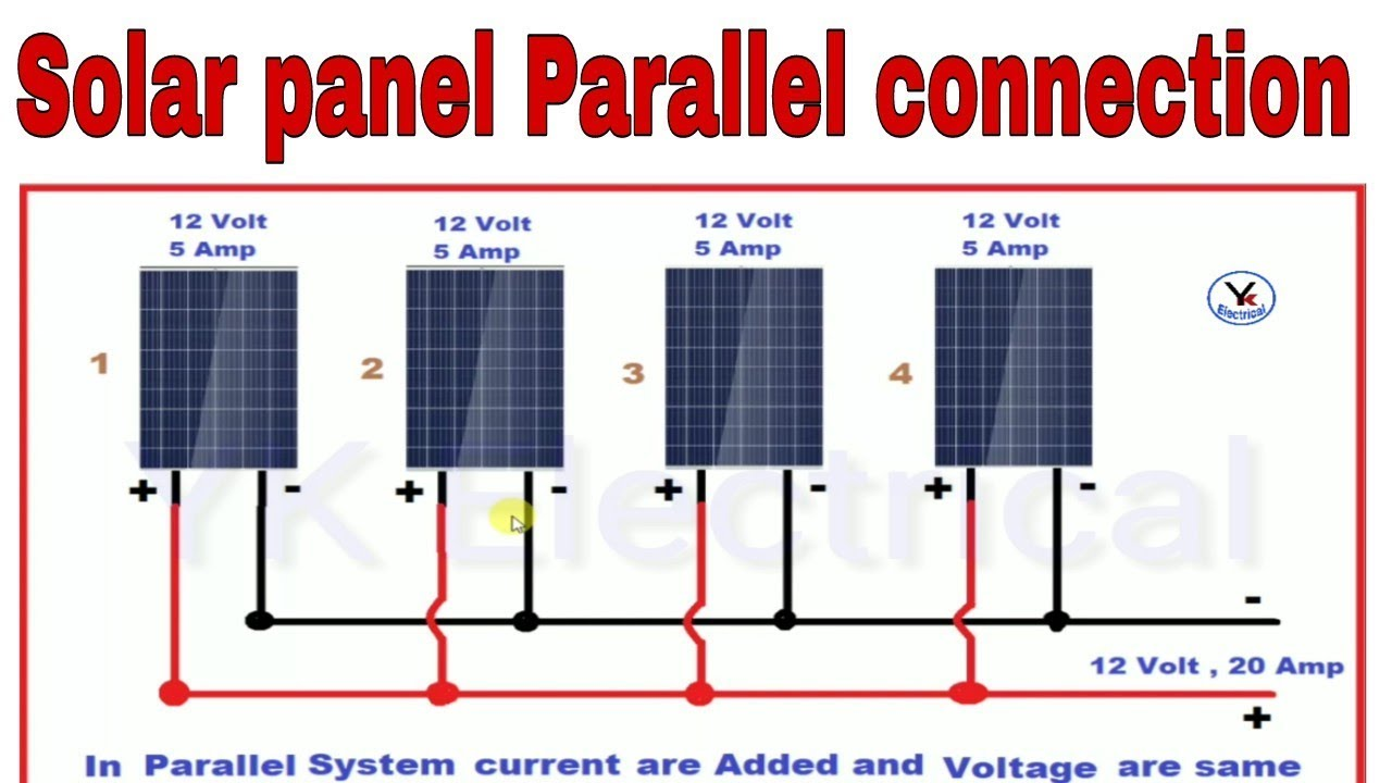 Solar Wiring Connection Diagram Schemes 12 Volt Panel Panels Parallel Connections System In Rh Youtube Com Diagrams For Homes