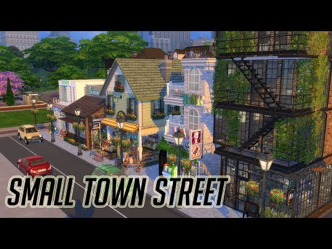 The Sims 4|심즈4 집짓기 / 건축 | Small Town Street - Left Side- |작은