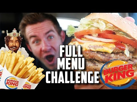 THE SUPERCHARGED BURGER KING MENU CHALLENGE!