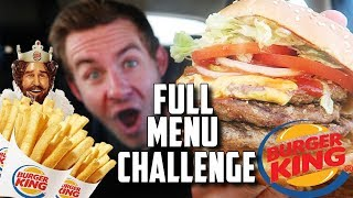 THE SUPERCHARGED BURGER KING MENU CHALLENGE