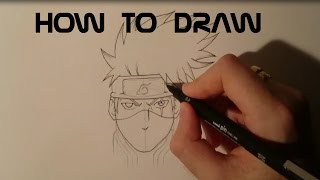 How to draw - Kakashi Hatake