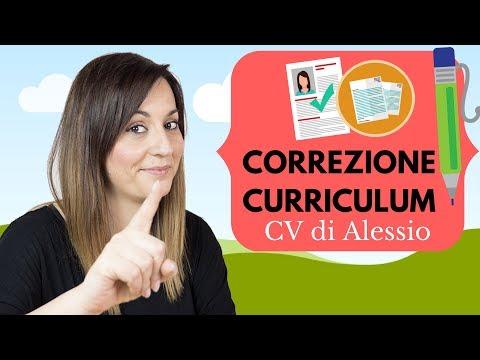CORREZIONE CURRICULUM: guardiamo insieme il CV di Alessio!