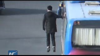Man floating in mid-air, punished for disrupting traffic