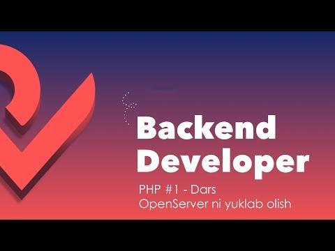 PHP #1 - Dars. OpenServer Yuklab Olish