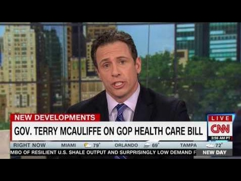 TERRY MCAULIFFE FULL EXPLOSIVE INTERVIEW WITH CHRIS CUOMO - NEW DAY (5/5/2017) .